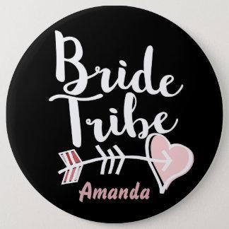 Badge Rond 15,2 Cm Tribu à la mode de jeune mariée