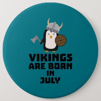 Badge Rond 15,2 Cm Vikings sont en juillet Z8p0q nés