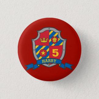 Badge Rond 2,50 Cm 5ème Bouton jaune rouge d'âge de bouclier de