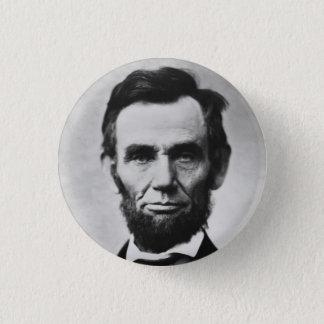 Badge Rond 2,50 Cm Abraham Lincoln