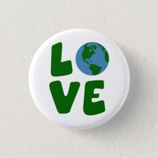 Badge Rond 2,50 Cm Aimez la planète de Terre