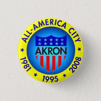 Badge Rond 2,50 Cm Akron tout le bouton américain de ville