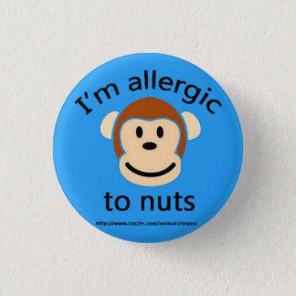 Badge Rond 2,50 Cm Alerte d'allergie d'écrou