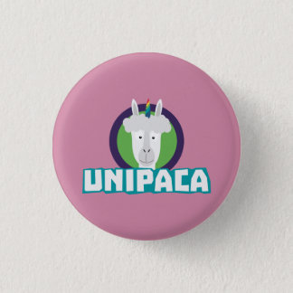 Badge Rond 2,50 Cm Alpaga Z67aj de licorne d'Unipaca