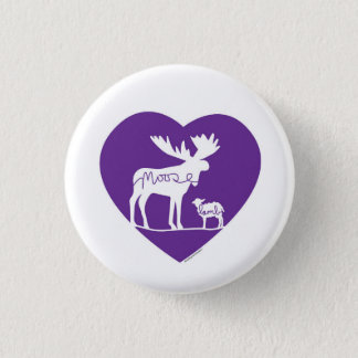 Badge Rond 2,50 Cm Amour d'agneau d'orignaux