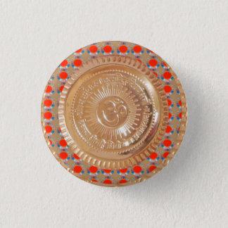 Badge Rond 2,50 Cm Amusement de symbole d'hindouisme d'emblème d'or