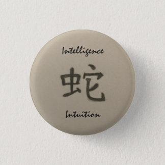 Badge Rond 2,50 Cm Année du bouton d'intelligence/intuition de