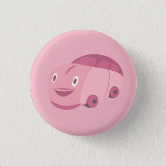 Badge Rond 2,50 Cm Arrière - plan rose de personnaliser de voiture