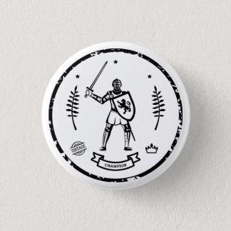 Badge Rond 2,50 Cm Art noir sur l'arrière - plan blanc - bouton de