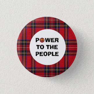 Badge Rond 2,50 Cm Aucune puissance de personnes écossaise de