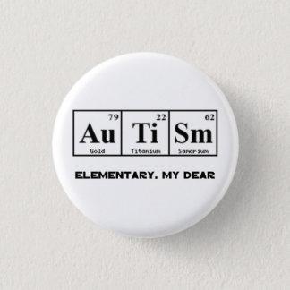 Badge Rond 2,50 Cm Autisme, éléments et Sherlock Holmes de Tableau