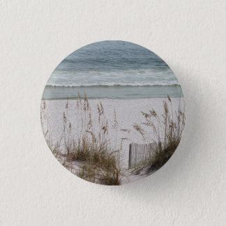 Badge Rond 2,50 Cm Avoine de mer le long du côté de plage