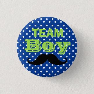 Badge Rond 2,50 Cm Baby shower bleu de garçon d'équipe de point de