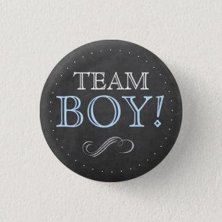 Badge Rond 2,50 Cm Baby shower bleu de tableau de garçon d'équipe