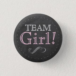 Badge Rond 2,50 Cm Baby shower de tableau de rose de fille d'équipe