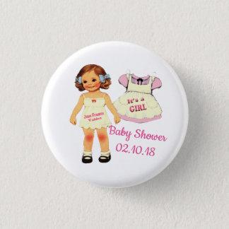 Badge Rond 2,50 Cm baby shower pour le bouton de juin