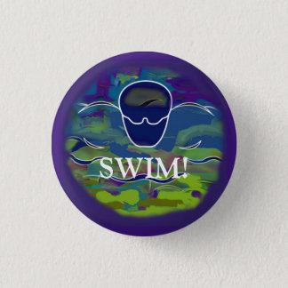 """Badge Rond 2,50 Cm BAIN de bouton rond de papillon """"! """""""