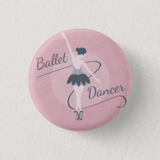 Badge Rond 2,50 Cm Ballet Dancer boton