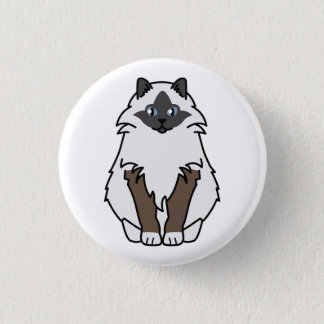 Badge Rond 2,50 Cm Bande dessinée sacrée de chat de Birman