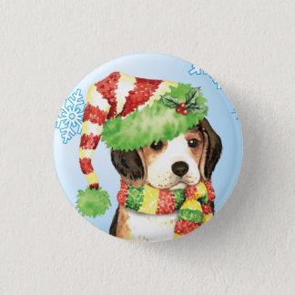 Badge Rond 2,50 Cm Beagle heureux de Howliday