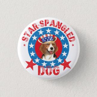 Badge Rond 2,50 Cm Beagle patriotique