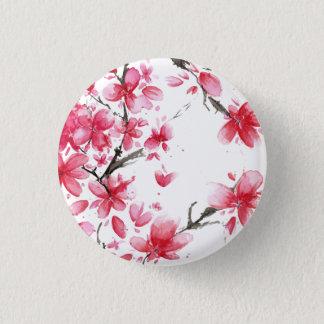 Badge Rond 2,50 Cm Beau et élégant bouton de Pin de fleurs de