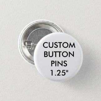 Badge Rond 2,50 Cm Blanc d'insigne de Pin de bouton personnalisé par