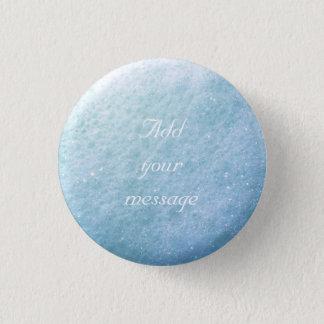 Badge Rond 2,50 Cm Bleu du point 1260C de bulles de savon