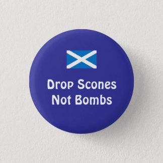 Badge Rond 2,50 Cm Bombes écossaises de scones de l'indépendance pas