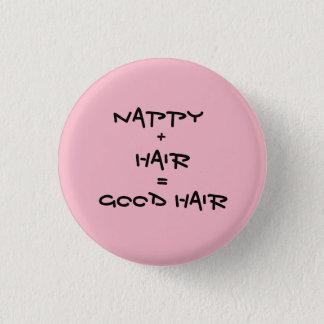 Badge Rond 2,50 Cm Bons cheveux