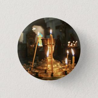 Badge Rond 2,50 Cm Bougies votives dans le bouton de Kazakhstan