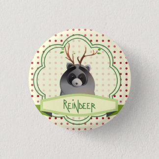 Badge Rond 2,50 Cm Bouton à cornes de raton laveur