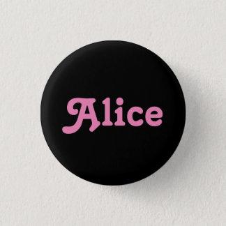 Badge Rond 2,50 Cm Bouton Alice