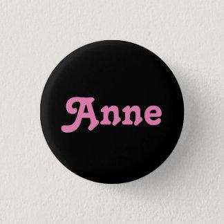Badge Rond 2,50 Cm Bouton Anne