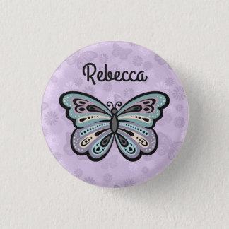 Badge Rond 2,50 Cm Bouton audacieux de papillon