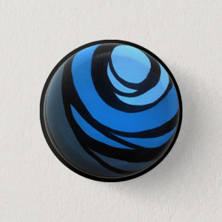 Badge Rond 2,50 Cm Bouton bleu de Chakra