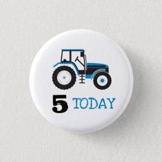 Badge Rond 2,50 Cm Bouton bleu d'insigne d'âge d'anniversaire de