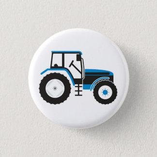 Badge Rond 2,50 Cm Bouton bleu d'insigne de tracteur