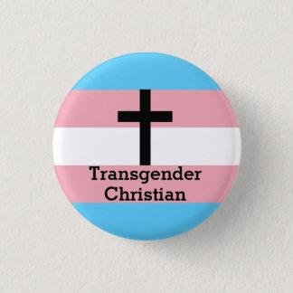Badge Rond 2,50 Cm Bouton chrétien de fierté de transsexuel