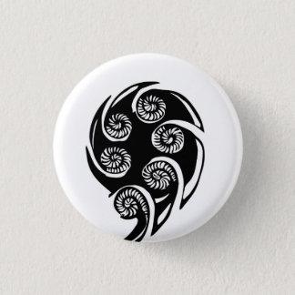 Badge Rond 2,50 Cm Bouton d'AOTEAROA KORU de la Nouvelle Zélande