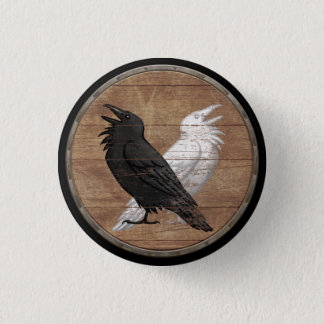 Badge Rond 2,50 Cm Bouton de bouclier de Viking - Ravens d'Odin