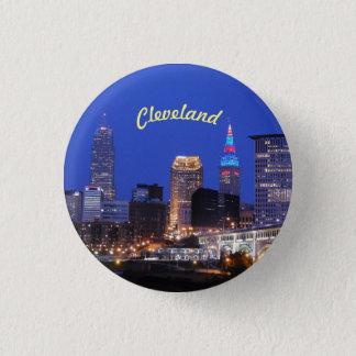 Badge Rond 2,50 Cm Bouton de Cleveland OH d'horizon de rivière