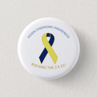 Badge Rond 2,50 Cm Bouton de conscience de syndrome de Down