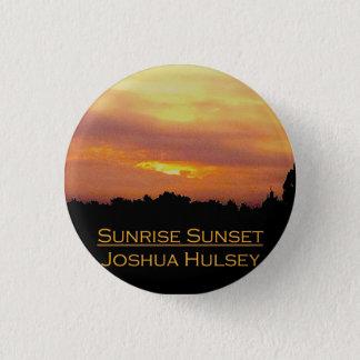 Badge Rond 2,50 Cm Bouton de coucher du soleil de lever de soleil