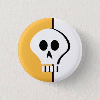 Badge Rond 2,50 Cm Bouton de crâne de Halloween