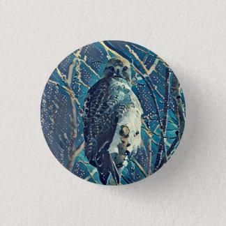 Badge Rond 2,50 Cm Bouton de faucon coupé la queue par rouge
