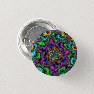 Badge Rond 2,50 Cm Bouton de fractale en verre souillé petit