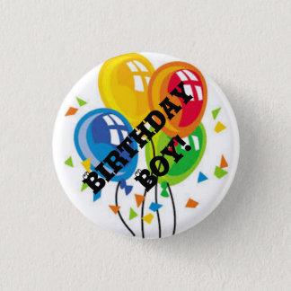 Badge Rond 2,50 Cm Bouton de garçon d'anniversaire