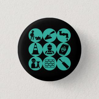 Badge Rond 2,50 Cm Bouton de génie civil