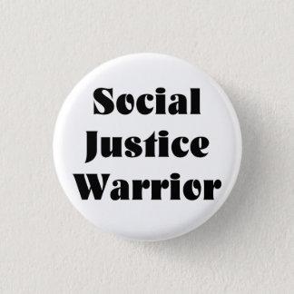 Badge Rond 2,50 Cm Bouton de guerrier de justice sociale